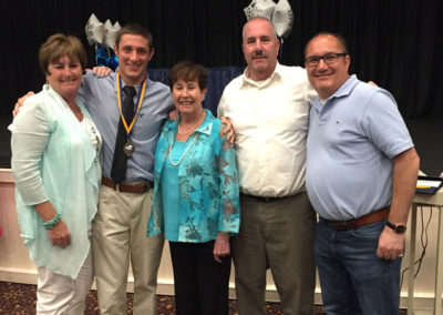 Matt (our 4th generation) with some of the family attending the Frank Federici Scholarship Award ceremony at Freehold Boro High School's 2016 Culinary program.