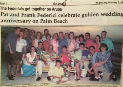 Pat and Frank Federici celebrate golden wedding anniversary on Palm Beach