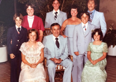 Frank Federici Jr and his family 1978 (the 3rd generation).